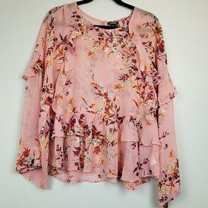 NWT A.N.A. sheer blouse